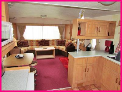 Caravan model 364 with veranda - Open Plan Kitchen Lounge area